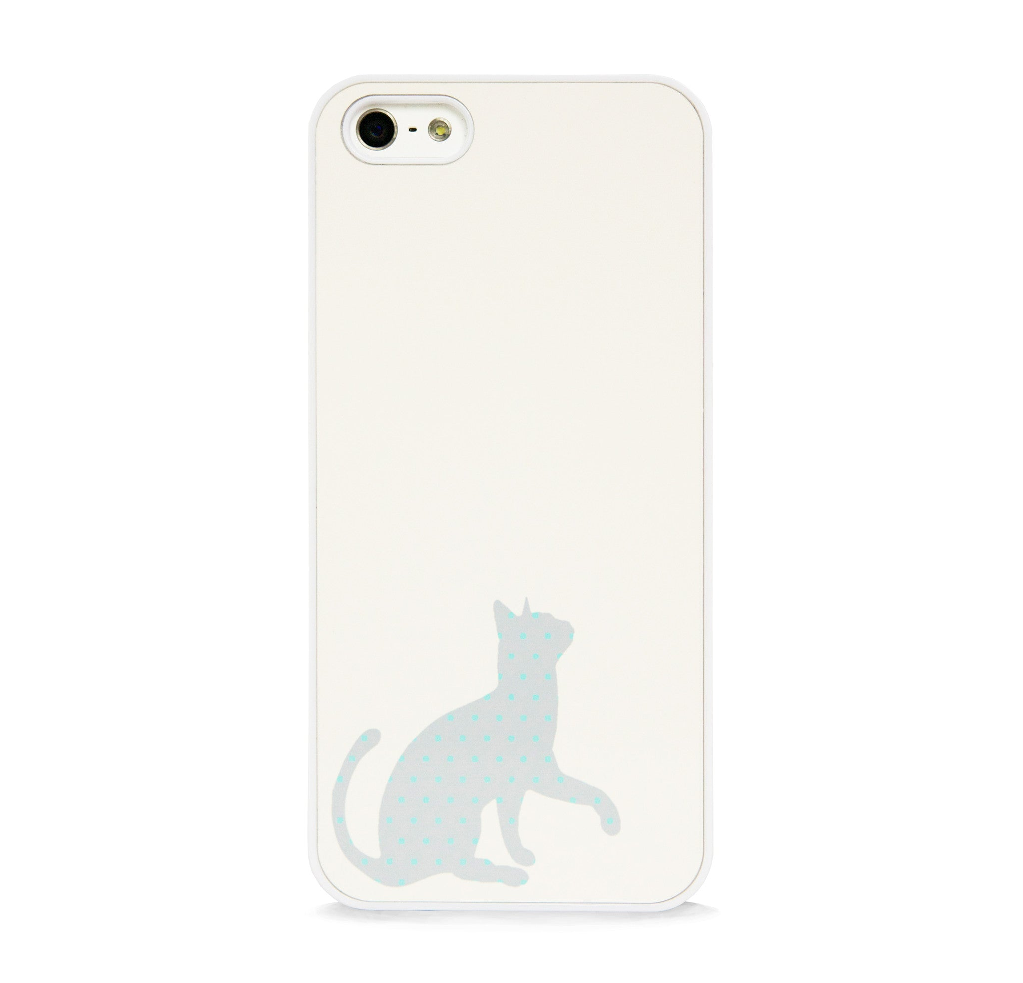 CUTE POLKA DOT CAT GREY FOR IPHONE 5/5S