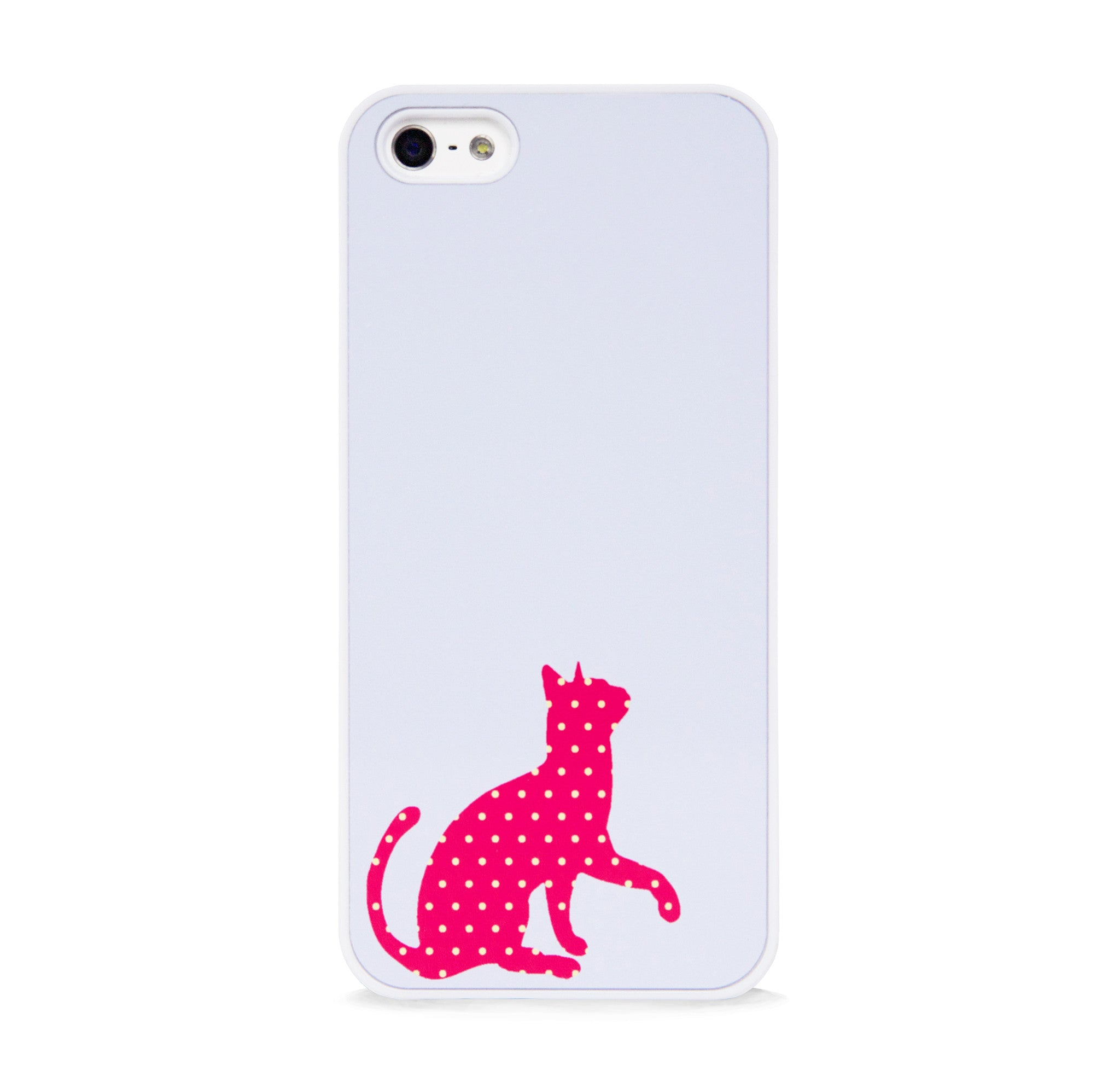CUTE POLKA DOT CAT RED FOR IPHONE 5/5S