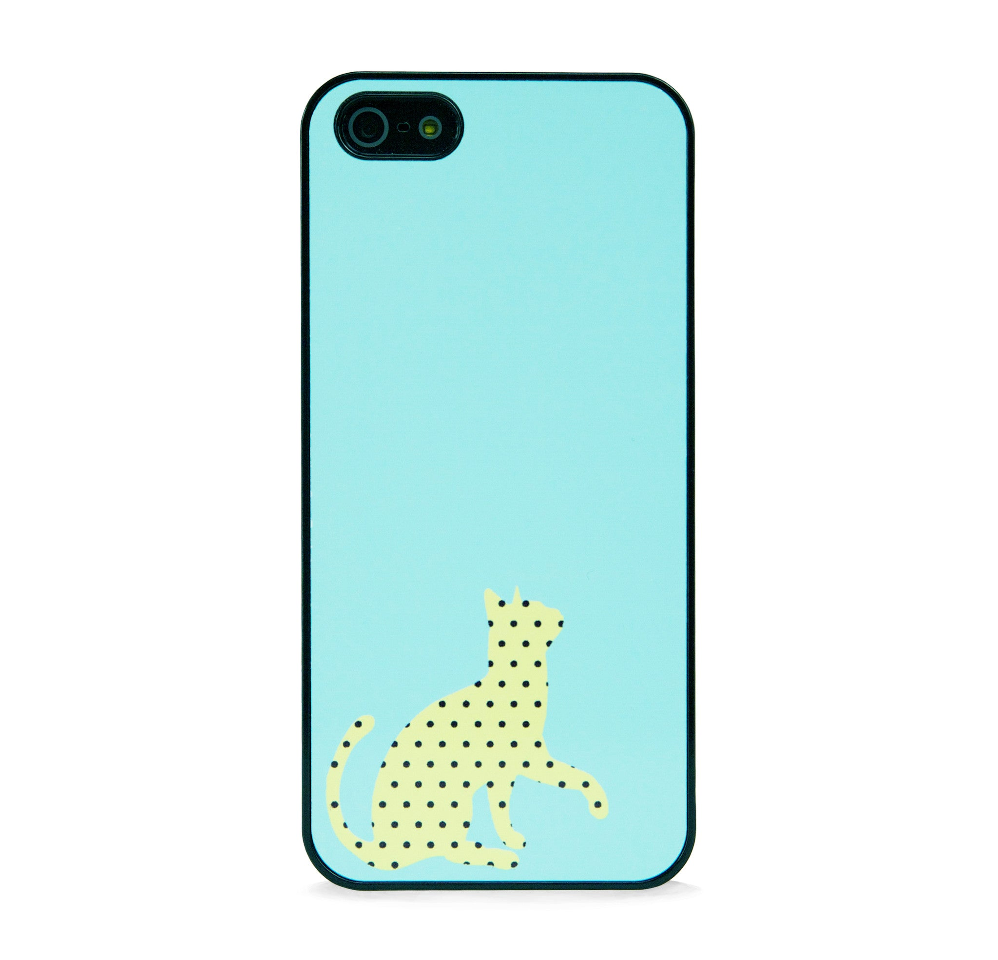 CUTE POLKA DOT CAT YLLW FOR IPHONE 5/5S
