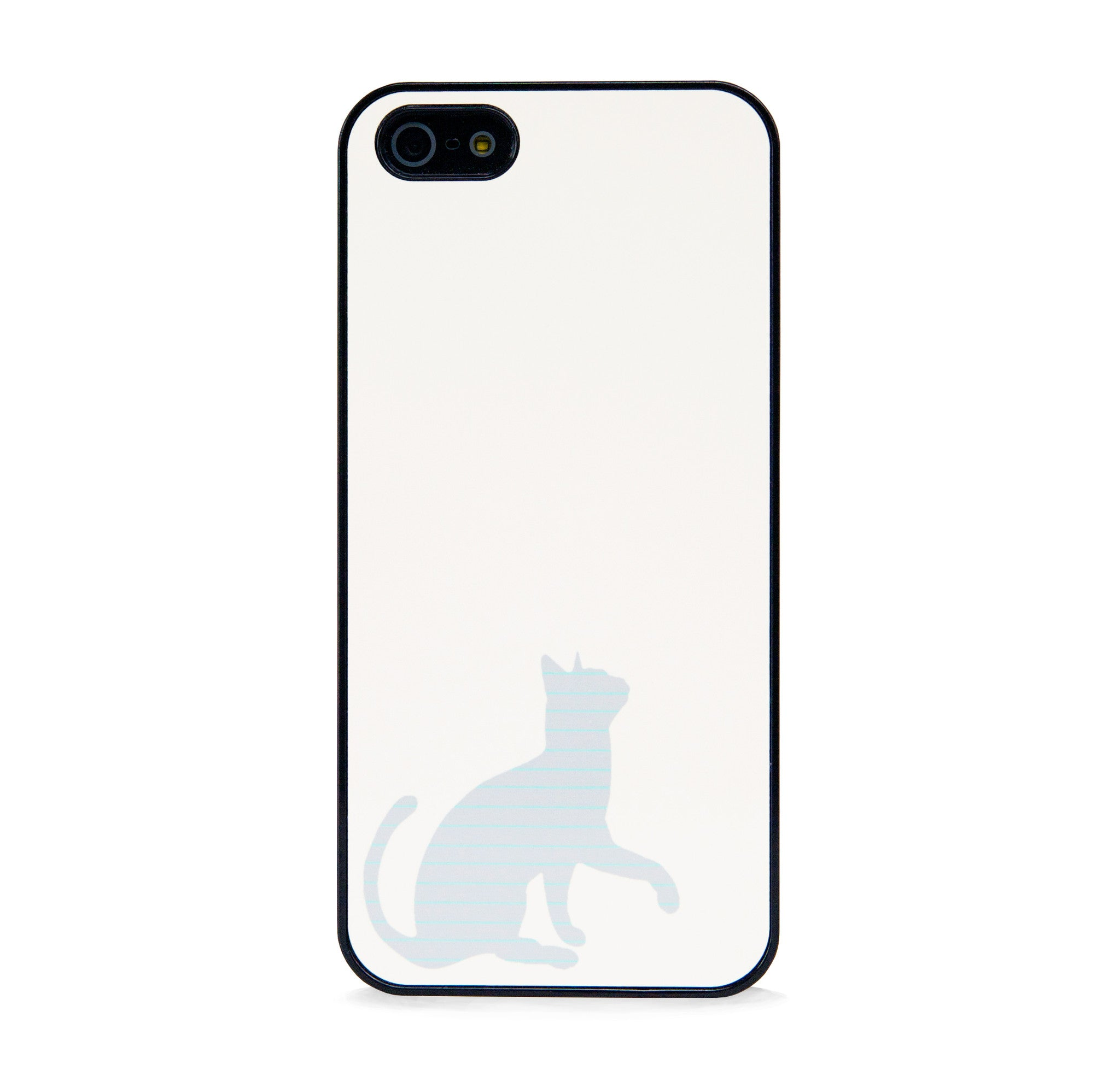 CUTE STRIPE CAT GREY FOR IPHONE 5/5S