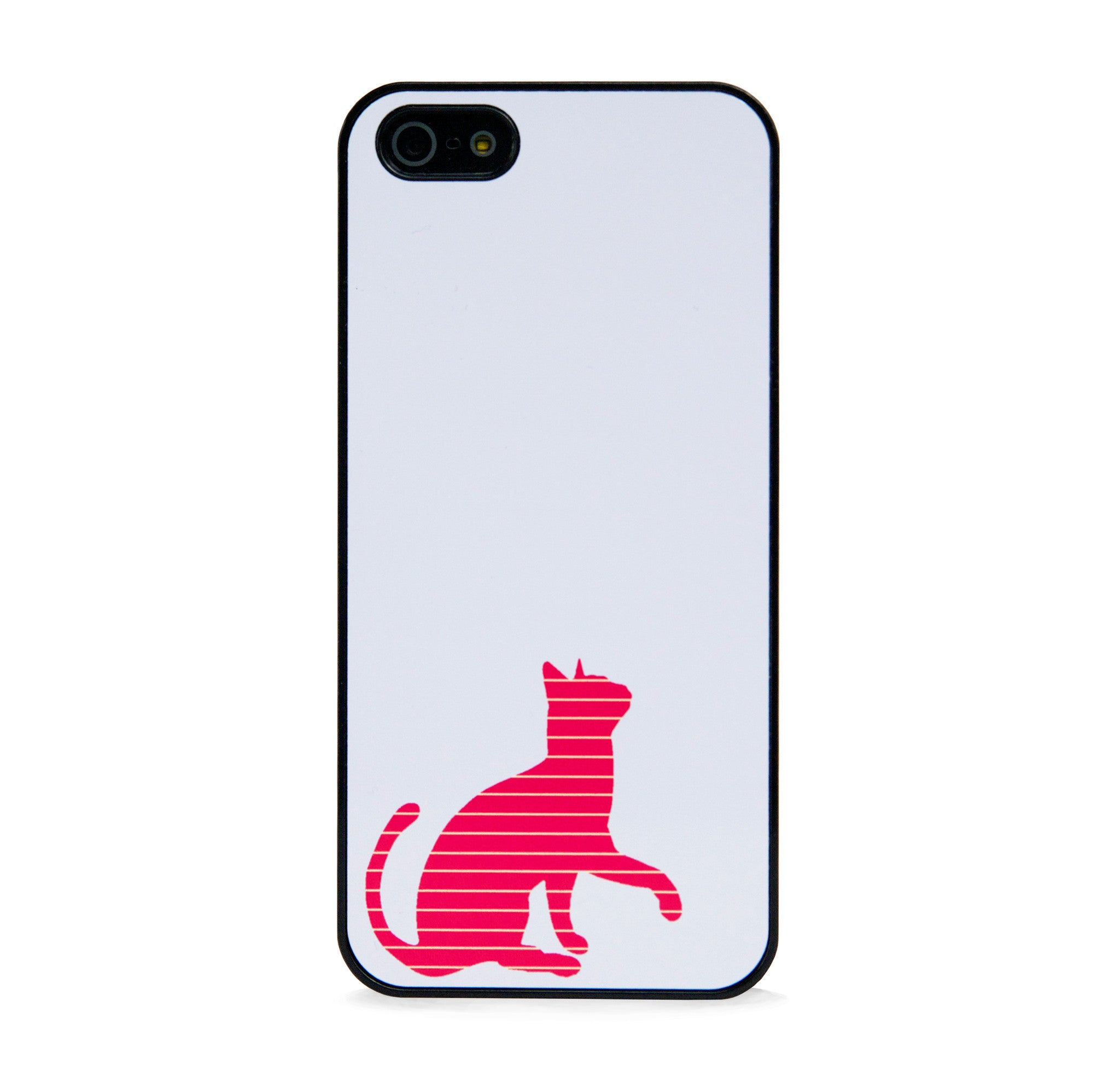CUTE STRIPE CAT RED FOR IPHONE 5/5S, IPHONE SE