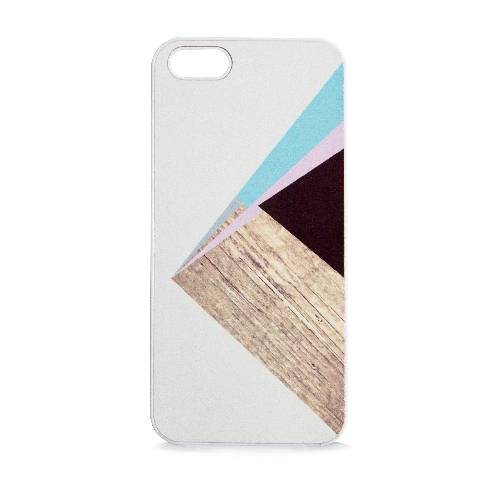 COLOR BLOCK WOOD PINK FOR IPHONE 5/5S