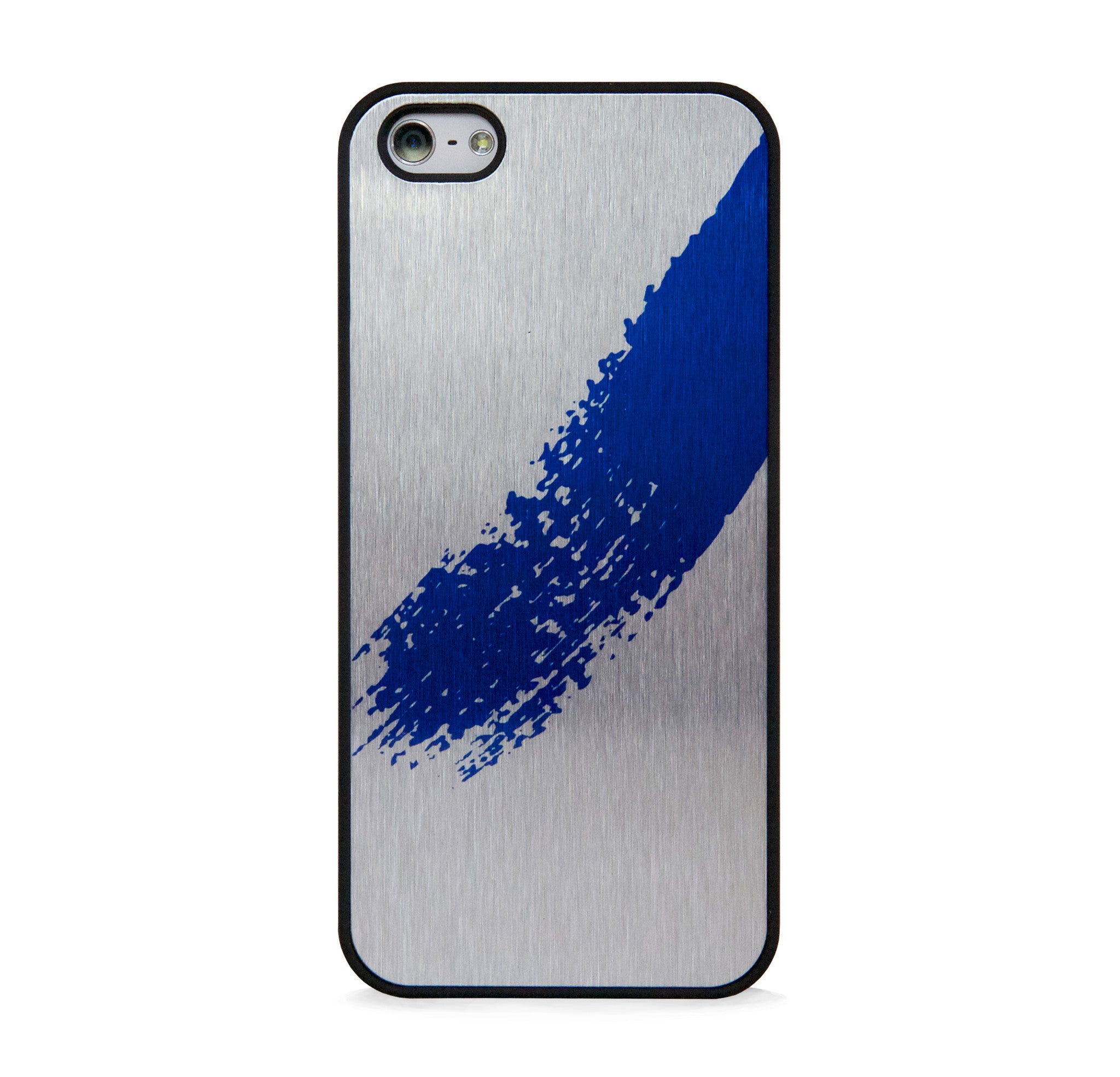 STYLISH CALLIGRAPHY BLUE ON SILVER FOR IPHONE 5/5S, IPHONE SE