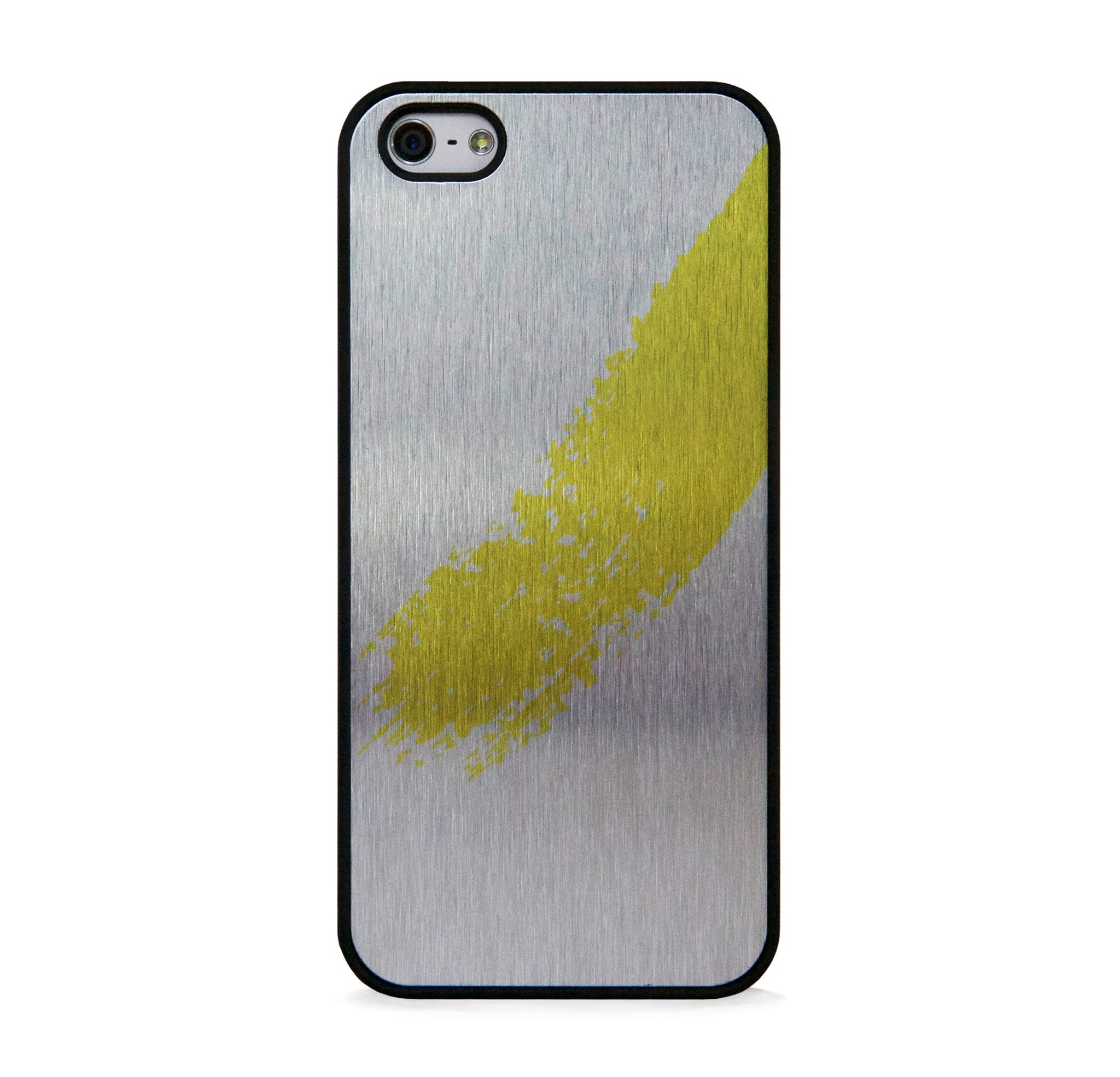 STYLISH CALLIGRAPHY YELLOW ON SILVER FOR IPHONE 5/5S