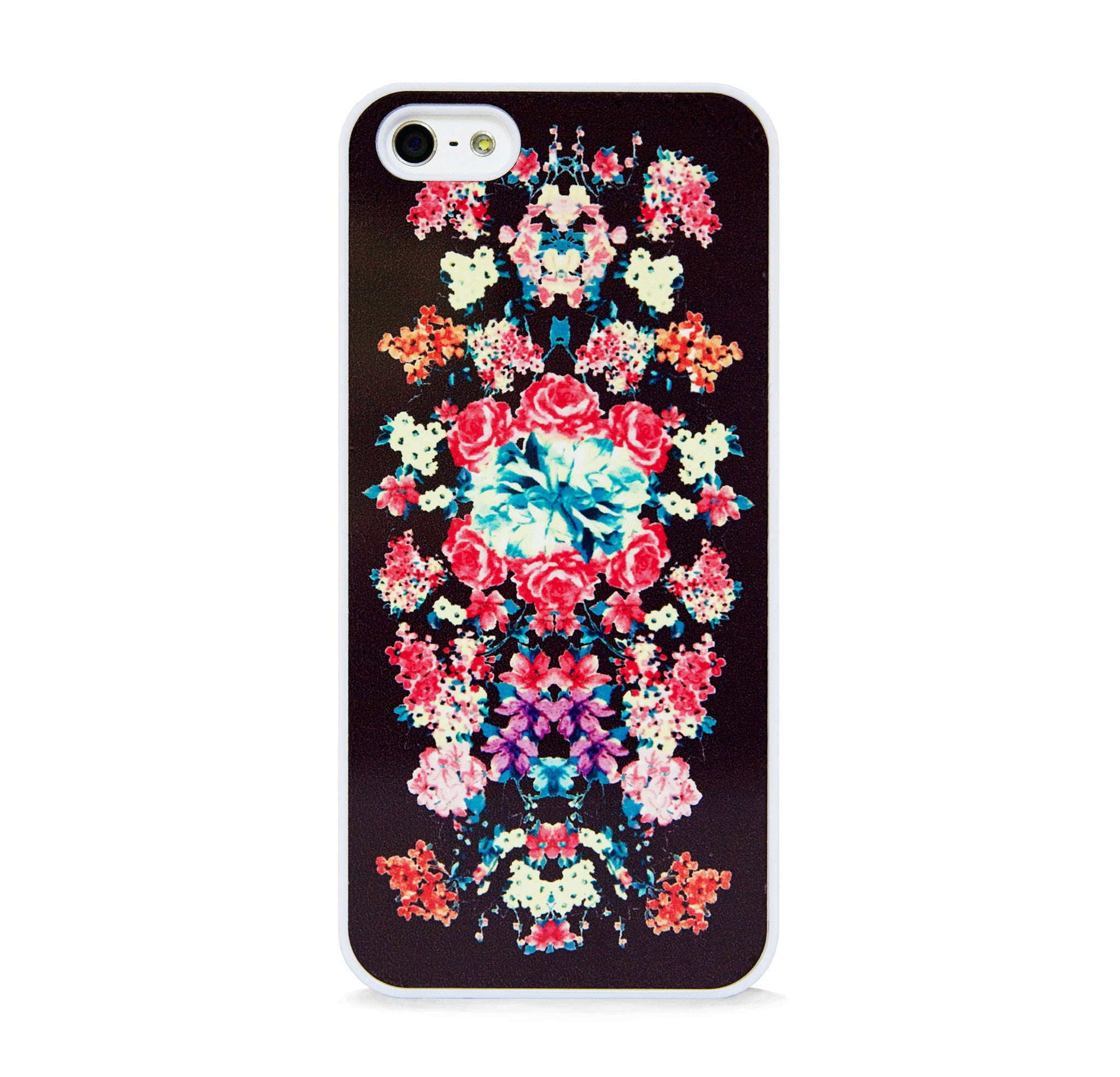 FLORAL PRINT BLACK FOR IPHONE 5/5S, IPHONE SE