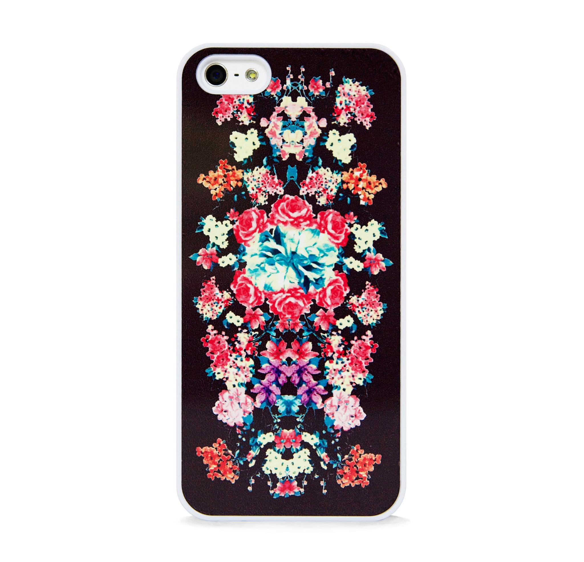 FLORAL PRINT BLACK FOR IPHONE 5/5S