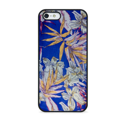 ARTISTIC FLORAL PATTERN BLUE FOR IPHONE 5/5S, IPHONE SE