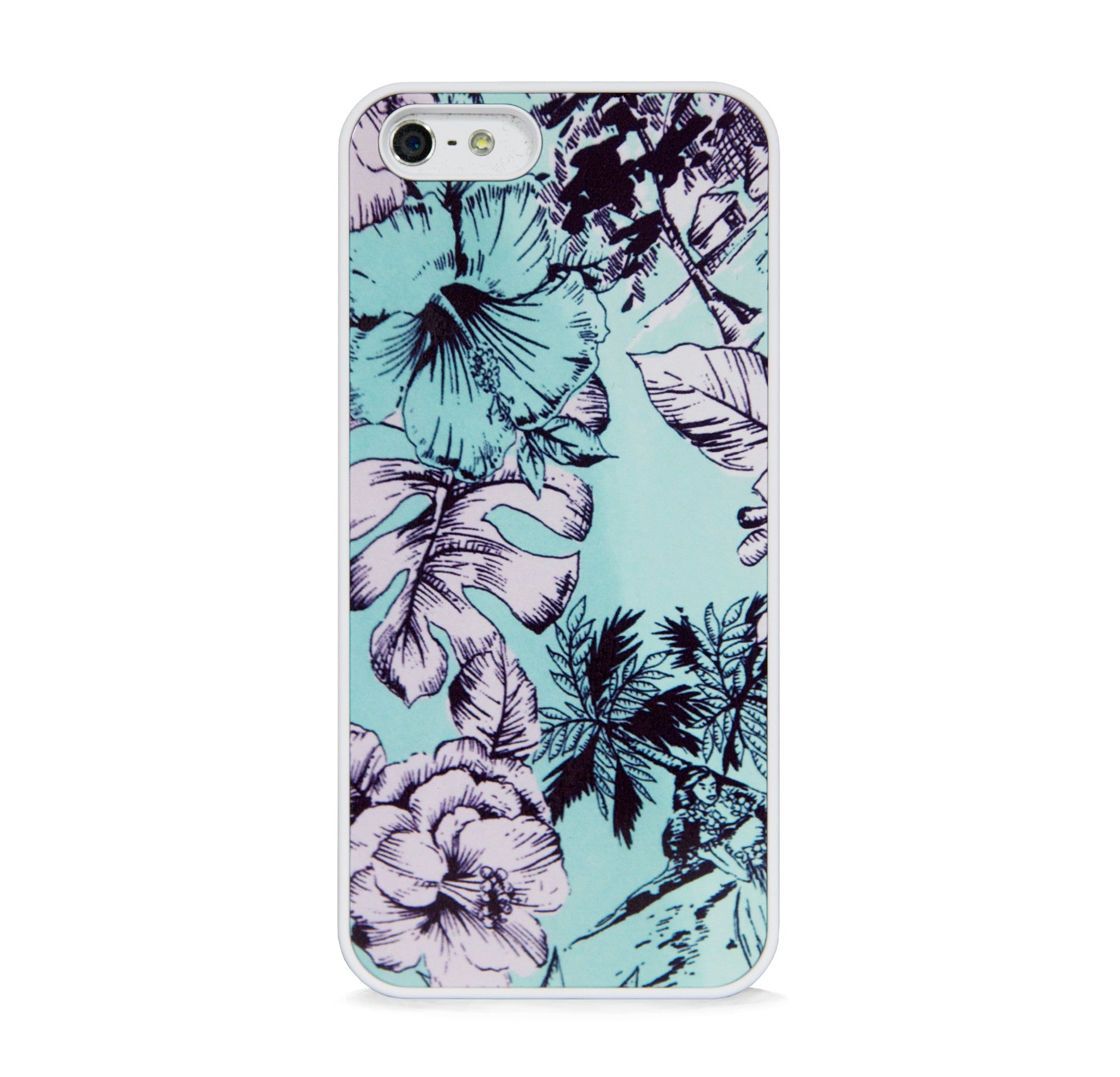 ARTISTIC FLORAL PATTERN MINT FOR IPHONE 5/5S