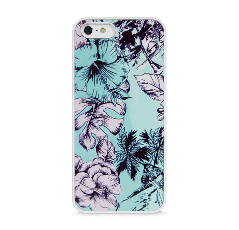 ARTISTIC FLORAL PATTERN MINT FOR IPHONE 5/5S, IPHONE SE
