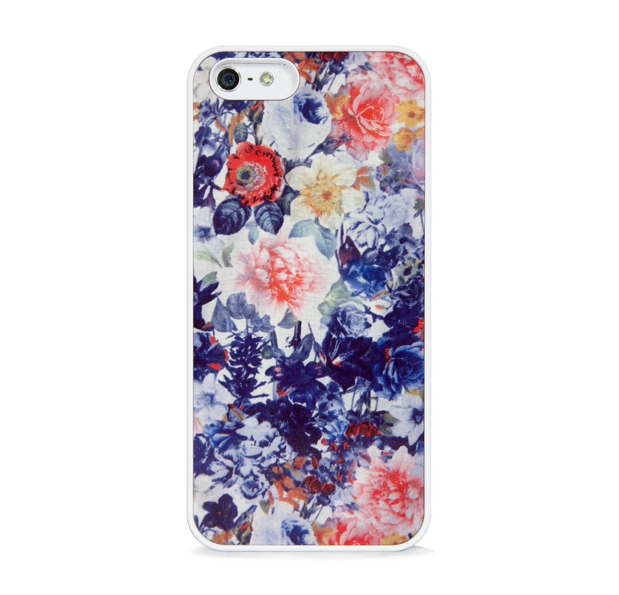 ARTISTIC FLORAL PATTERN NAVY FOR IPHONE 5/5S, IPHONE SE