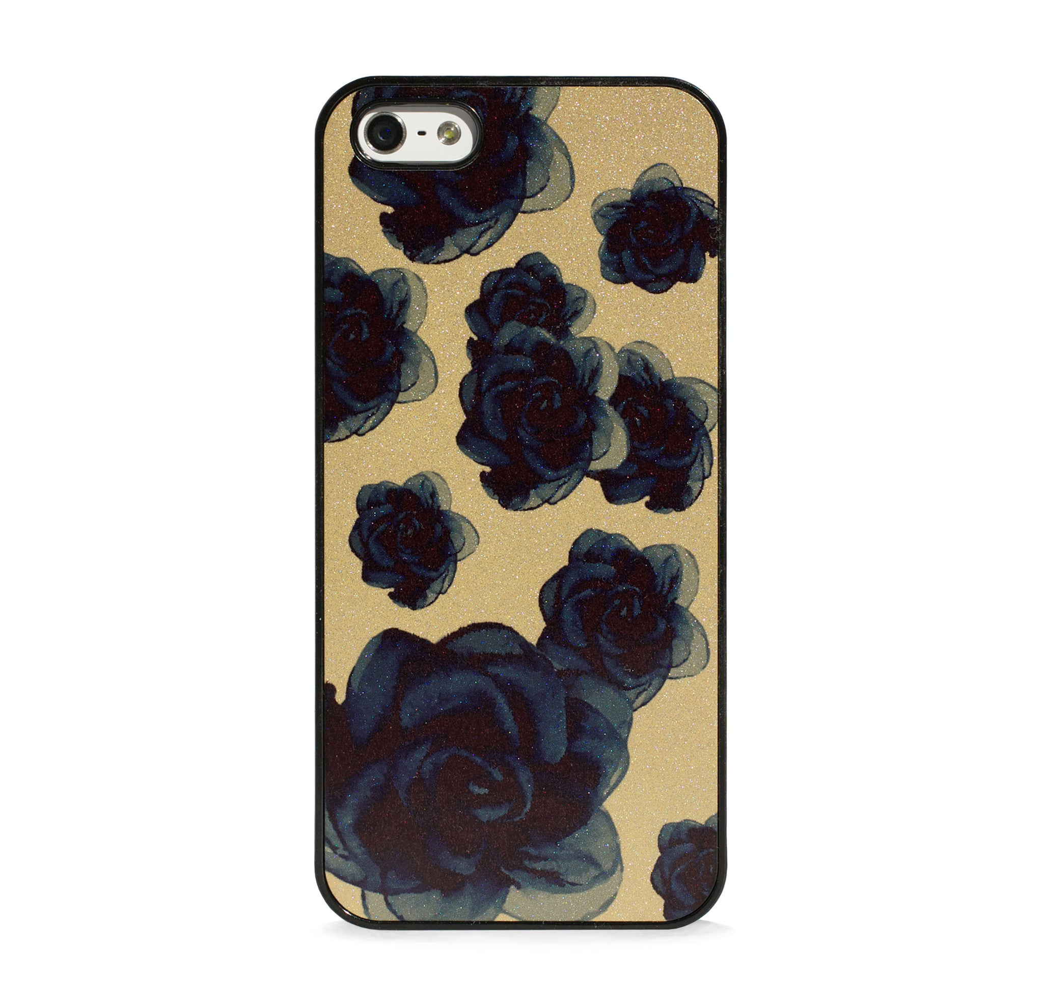 GLITTER GOLD FLOWERS FOR IPHONE 5/5S