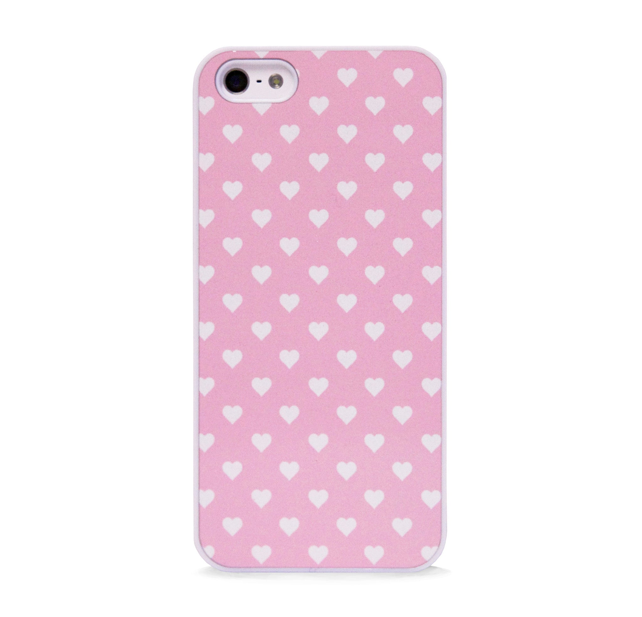 POLKA HEART PINK FOR IPHONE 5/5S, IPHONE SE