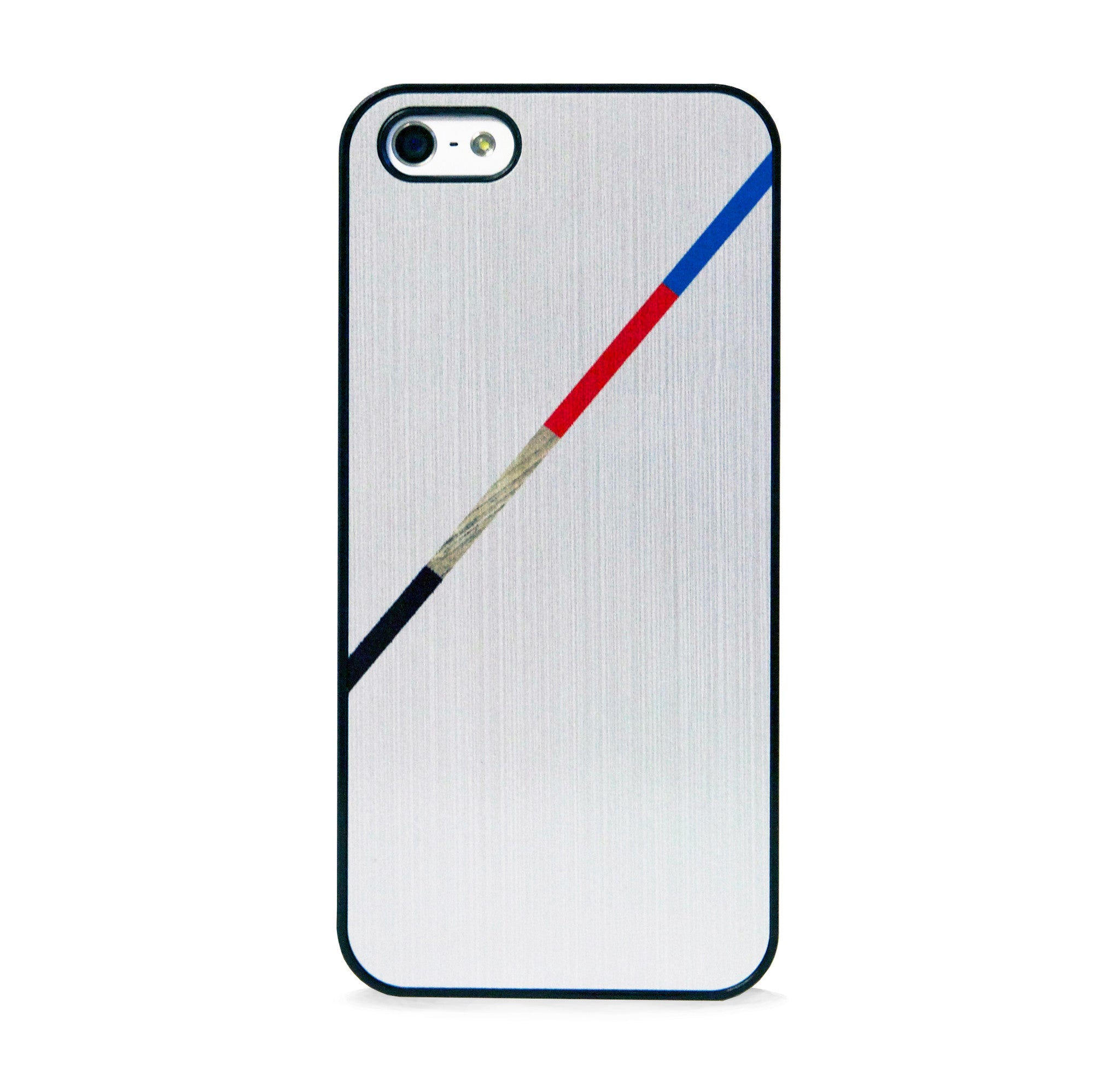 COLOR BLOCK LINE SILVER IPHONE 5/5S CASE