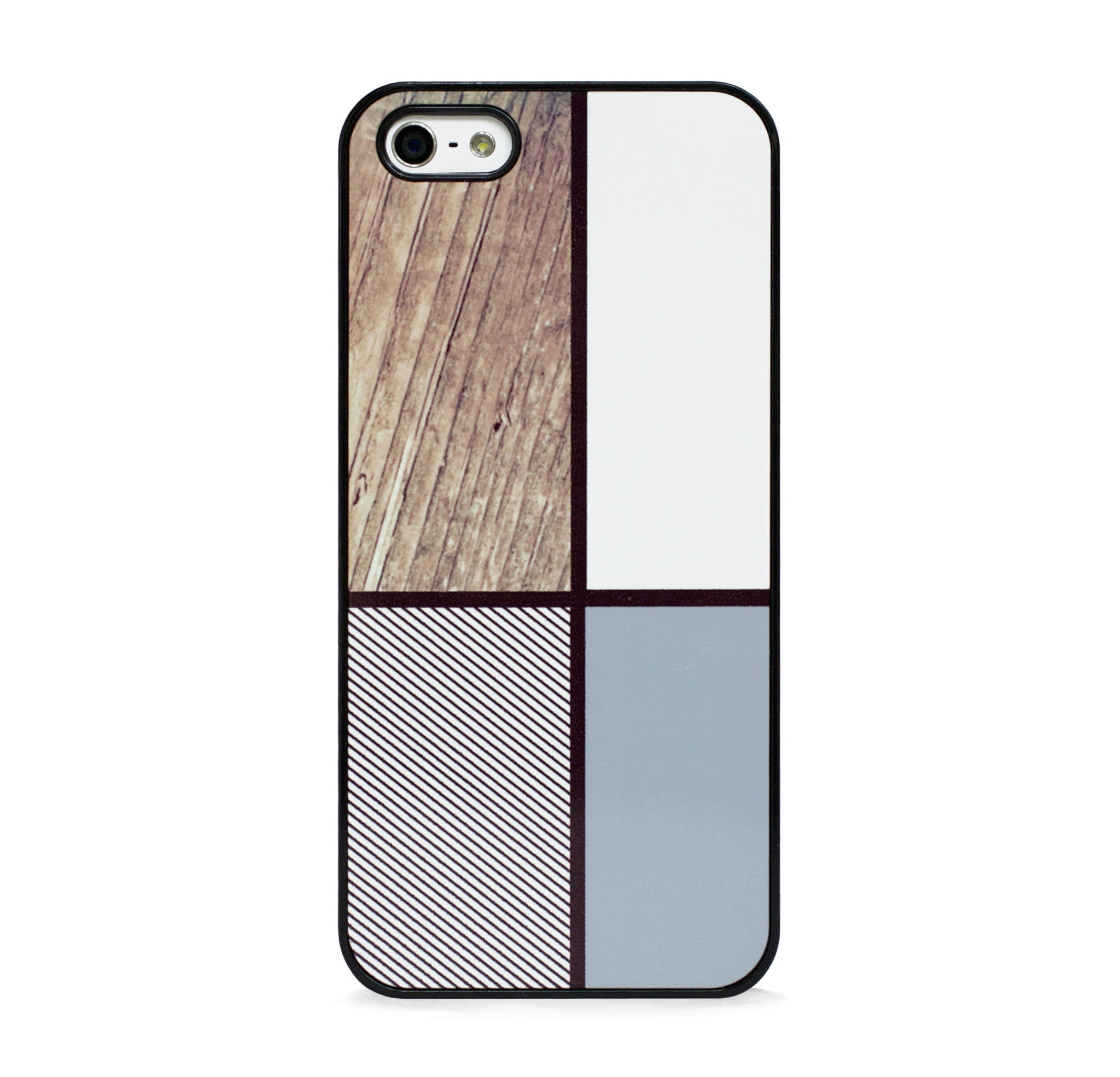 COLOR BLOCK SQ WOOD FOR IPHONE 5/5S