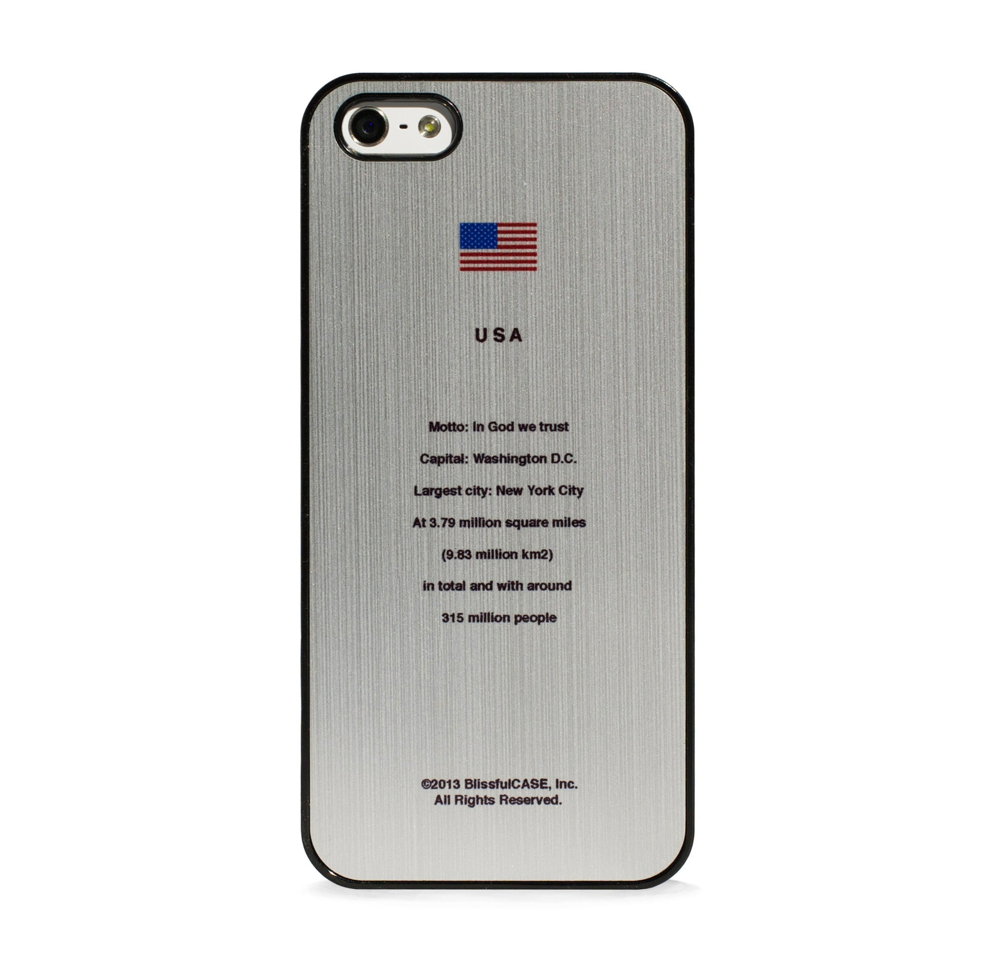 FLAG US1 ON BRUSHED SILVER FOR IPHONE 5/5S, IPHONE SE