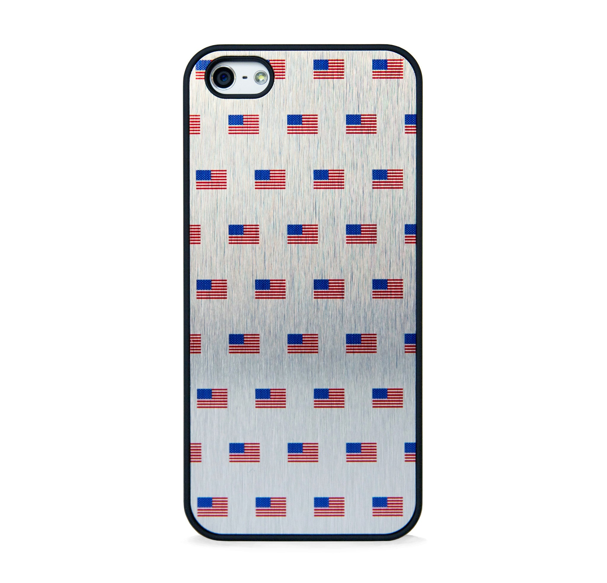 FLAG US2 ON BRUSHED SILVER FOR IPHONE 5/5S