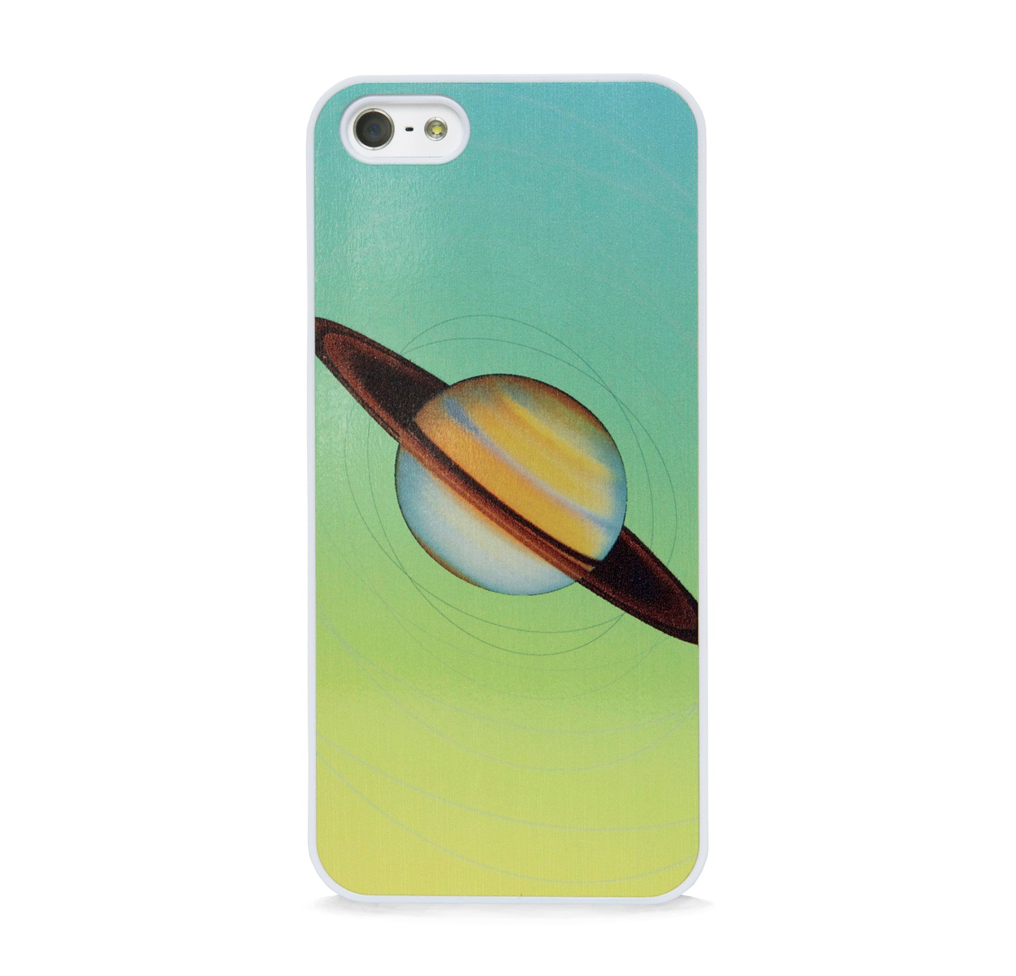 SPACE SATURN LT GREEN FOR IPHONE 5/5S