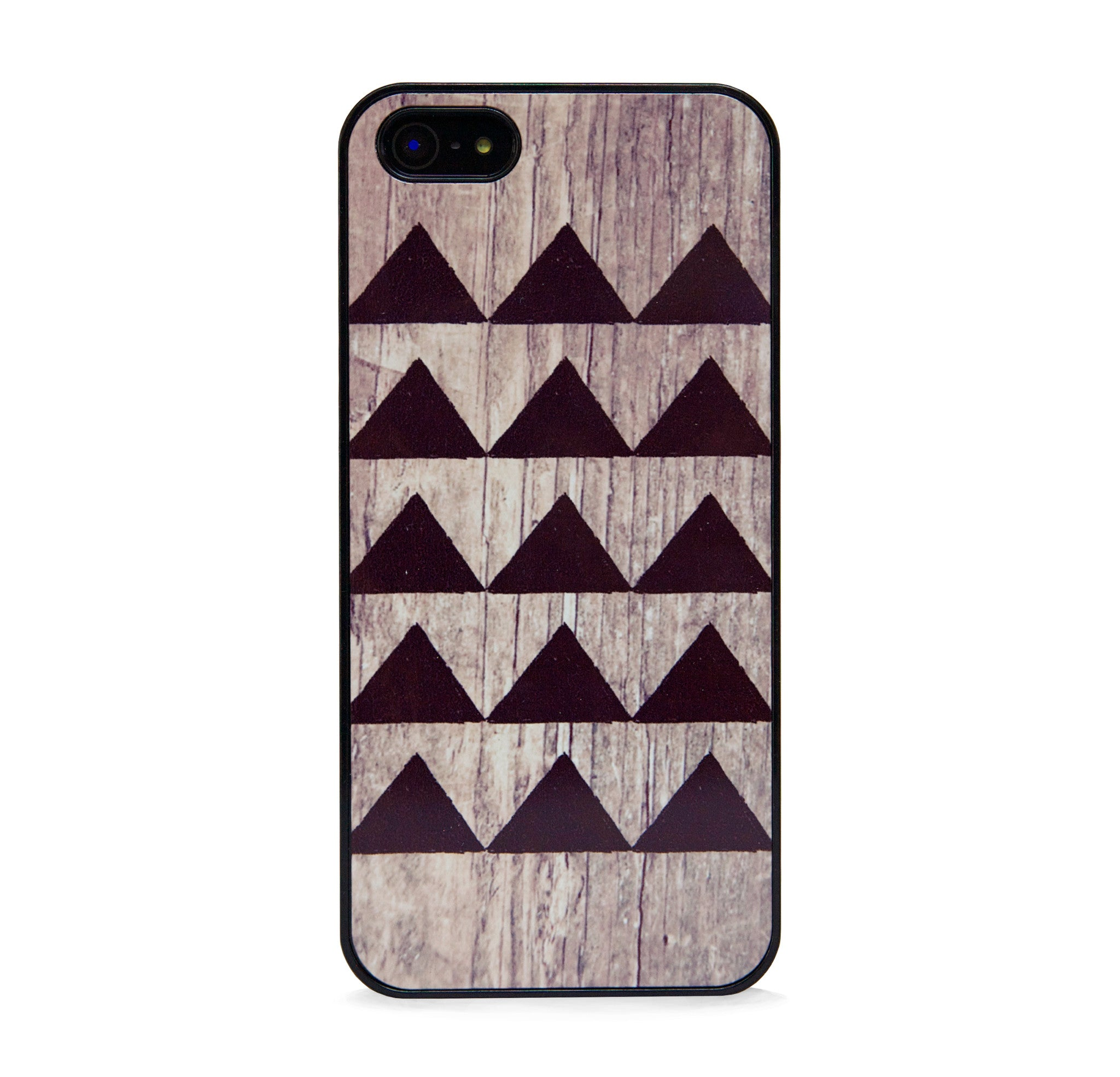 GEO WOOD TRIANGLE BLACK FOR IPHONE 5/5S, IPHONE SE