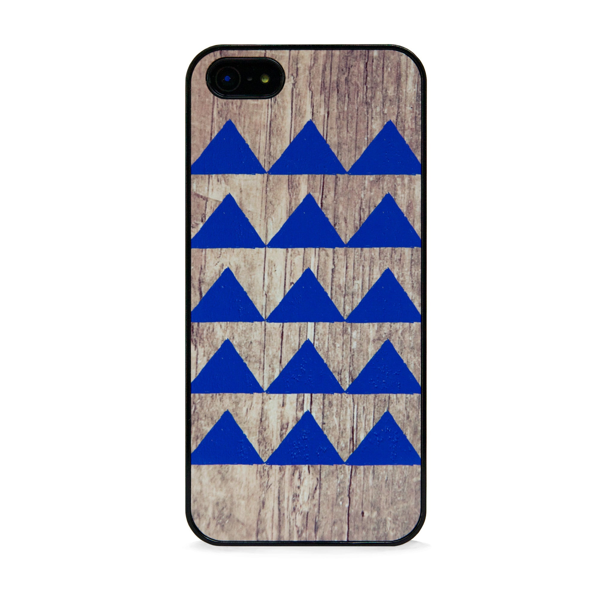 GEO WOOD TRIANGLE NAVY FOR IPHONE 5/5S, IPHONE SE