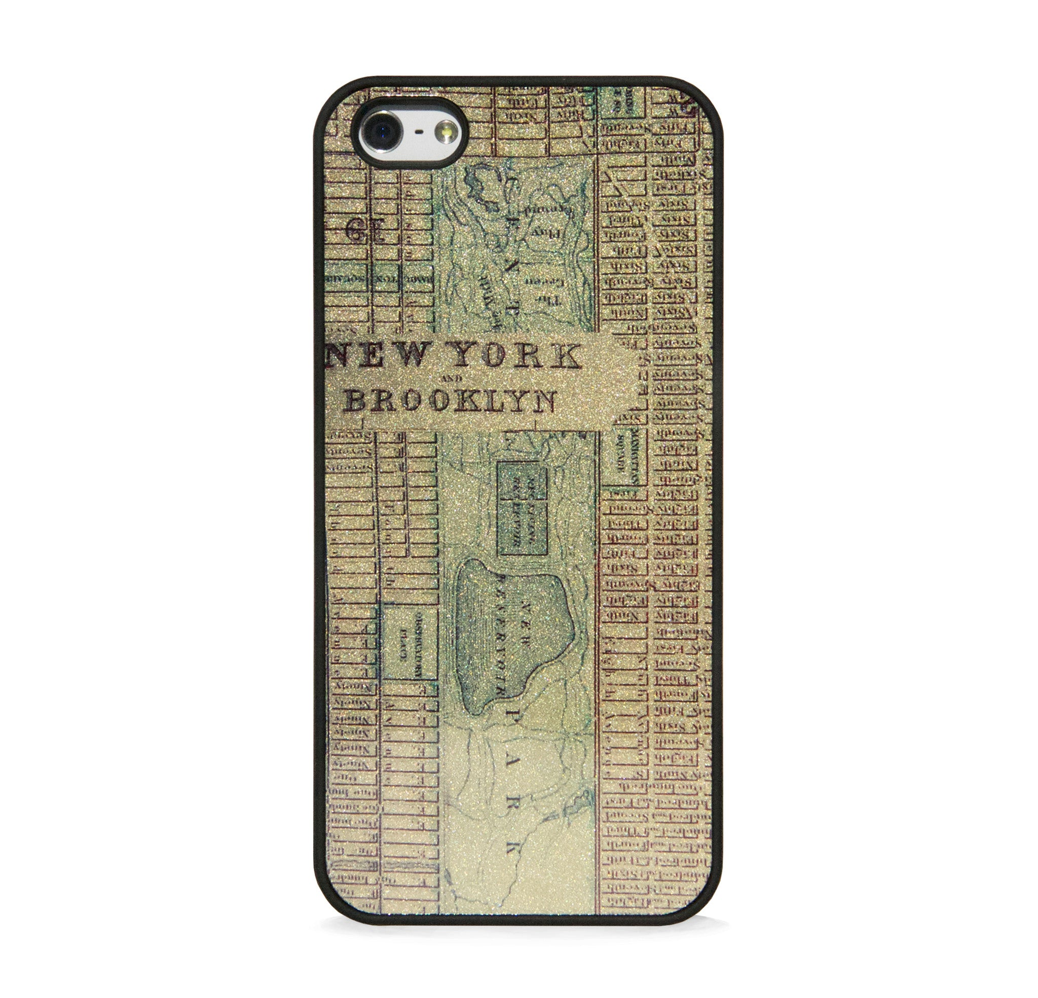 VINTAGE NEW YORK MAP ON GOLD FOR IPHONE 5/5S