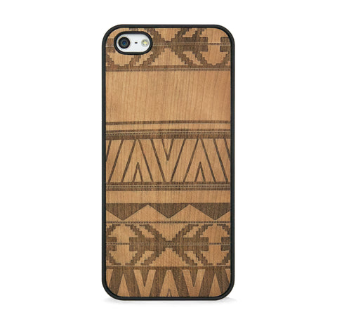 *WOOD CASE AZTEC FOR IPHONE 5/5s, IPHONE SE