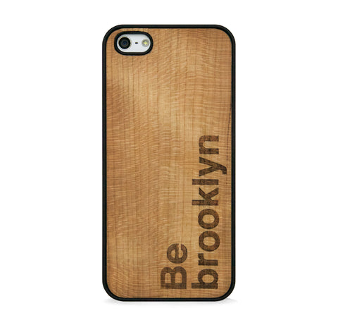 *WOOD CASE BE BROOKLYN FOR IPHONE 5/5s, IPHONE SE