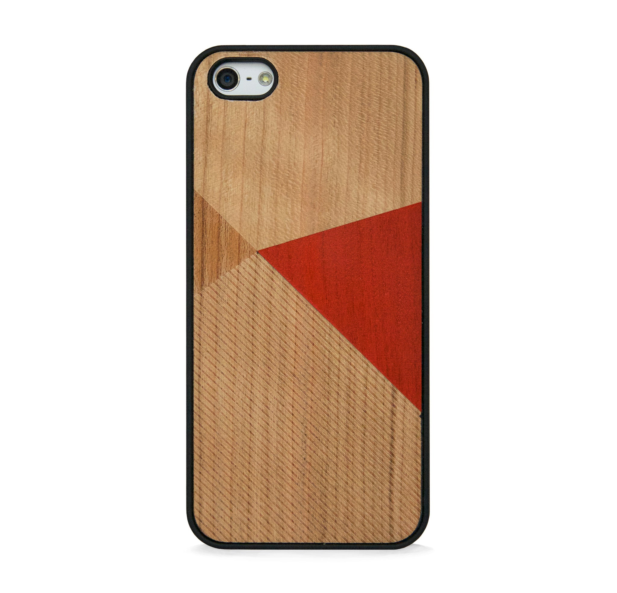 *WOOD CASE COLOR BLOCK ORANGE FOR IPHONE 5/5s