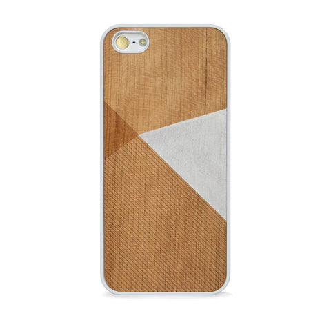 *WOOD CASE COLOR BLOCK WHITE FOR IPHONE 5/5s, IPHONE SE
