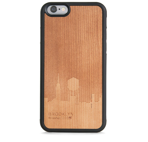 *WOOD CASE BROOKLYN FOR IPHONE 6/6S PLUS