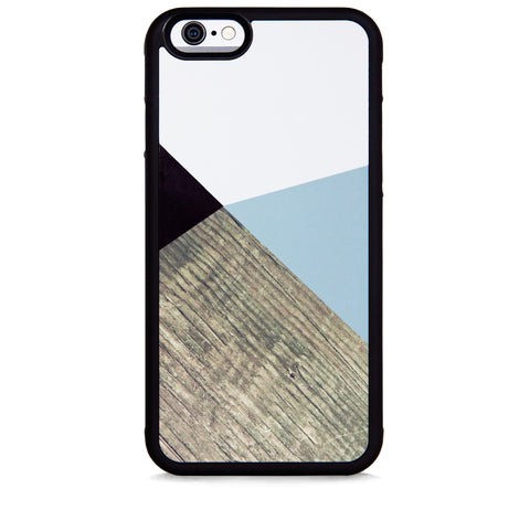 COLOR BLOCK GREY WOOD FOR IPHONE 6/6S PLUS