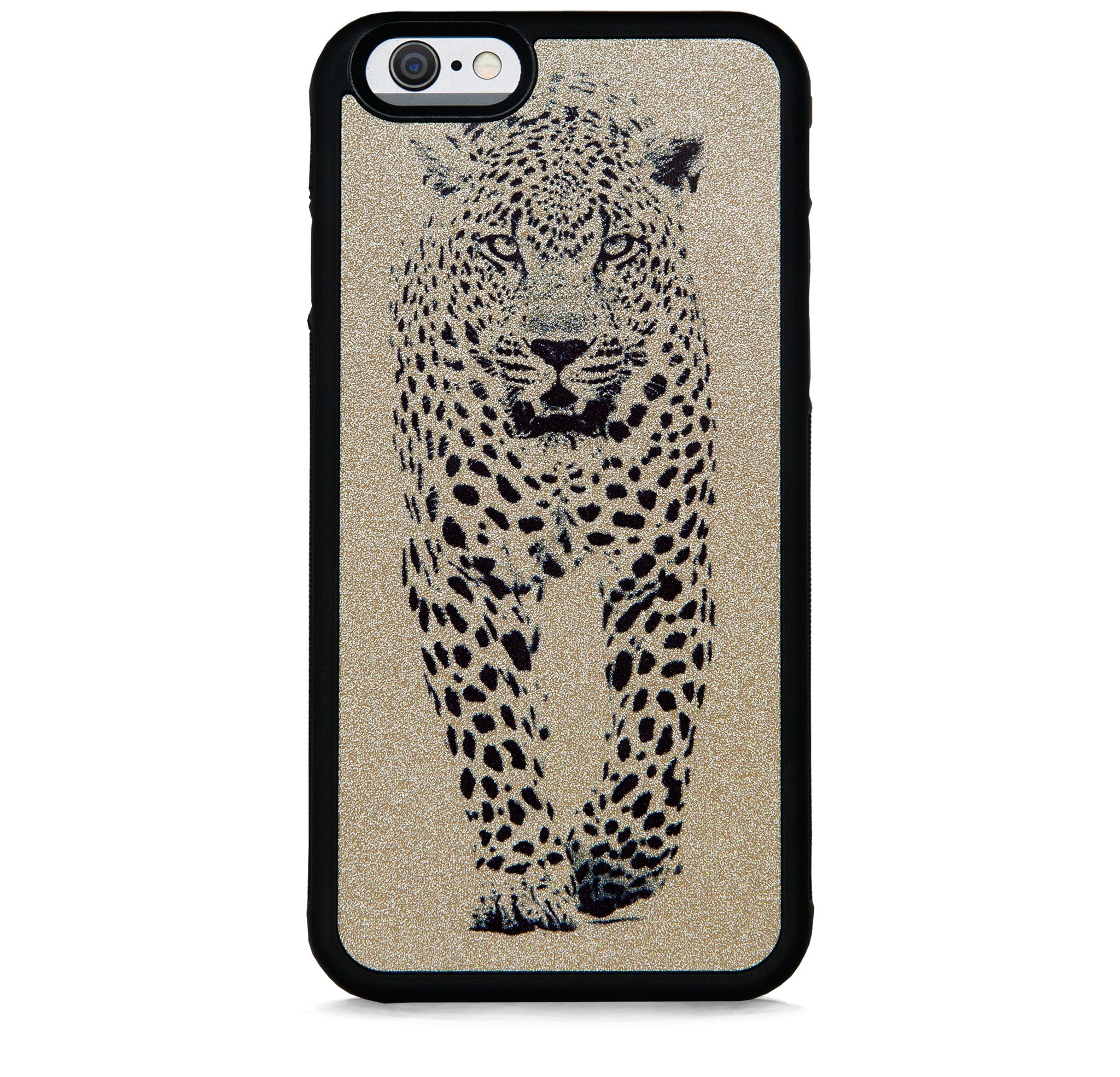 WILD CHEETAH BLACK ON GOLD FOR IPHONE 6/6S PLUS