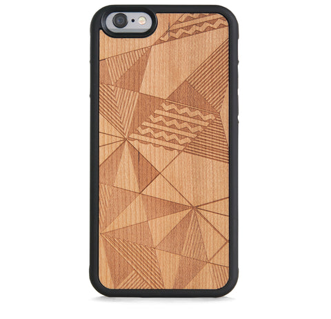 *WOOD CASE MULTI AZTEC FOR IPHONE 6/6S PLUS