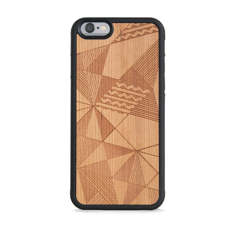 *WOOD CASE MULTI AZTEC FOR IPHONE 6/6s