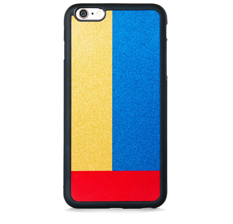 SQUARE COLOR BLOCK ON GOLD FOR IPHONE 6/6S PLUS
