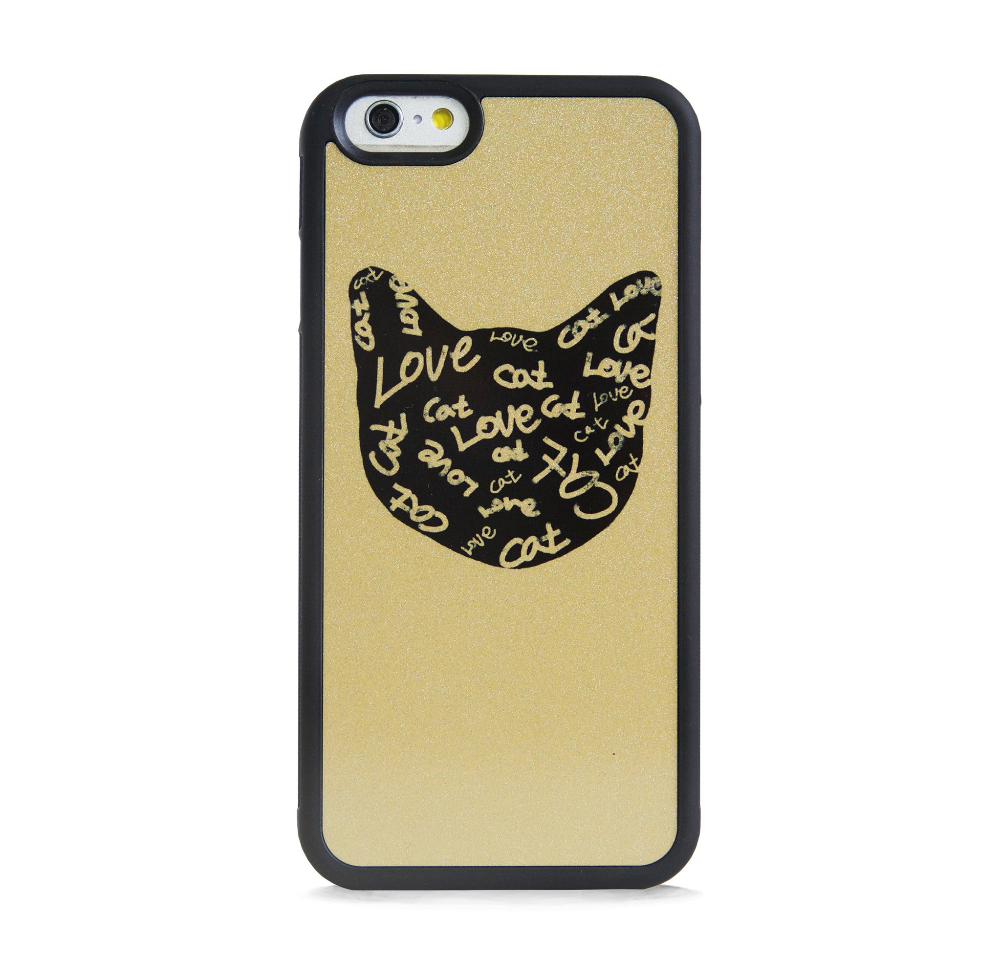 ILLUST CAT ON GOLD FOR IPHONE 6/6s