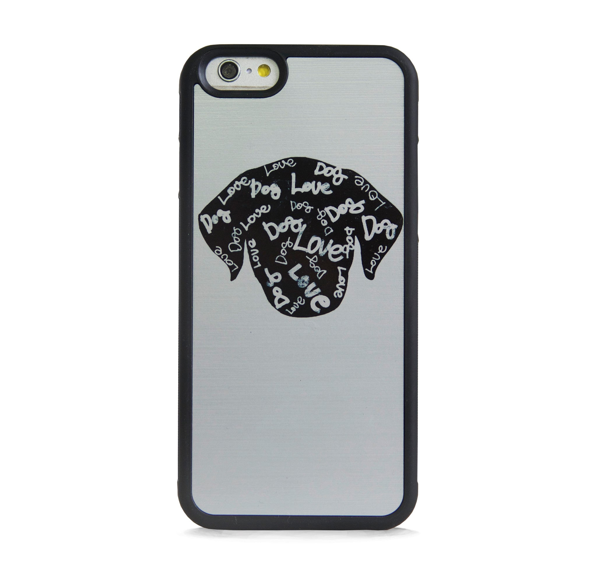 ILLUST DOG ON SILVER FOR IPHONE 6/6s