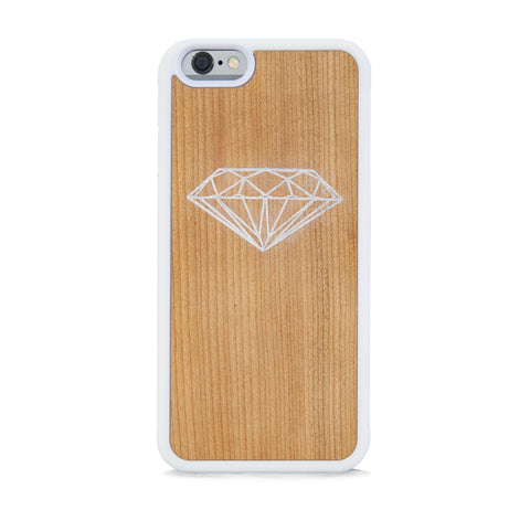 *WOOD CASE DIAMOND FOR IPHONE 6/6s