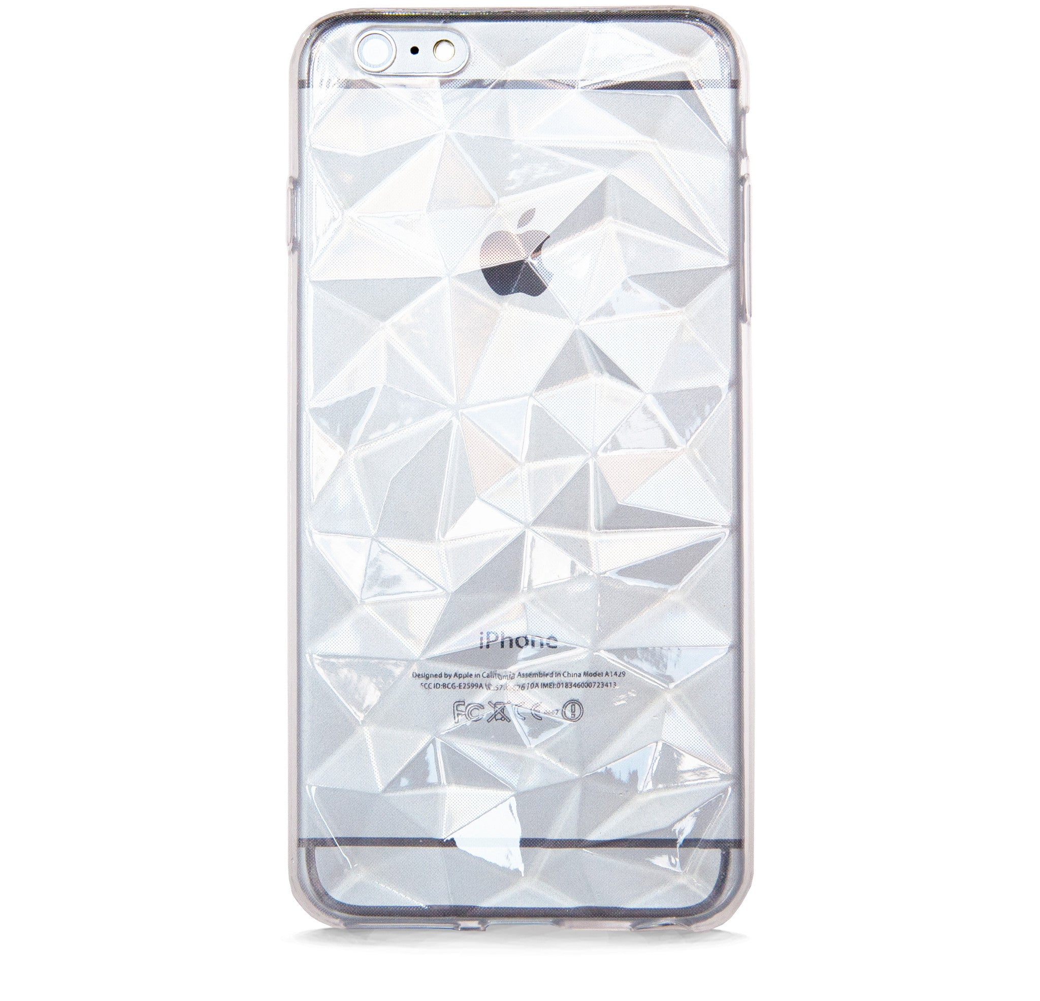 *IPHONE 6/6S PLUS MULTI FACETED CLEAR RUBBER CASE