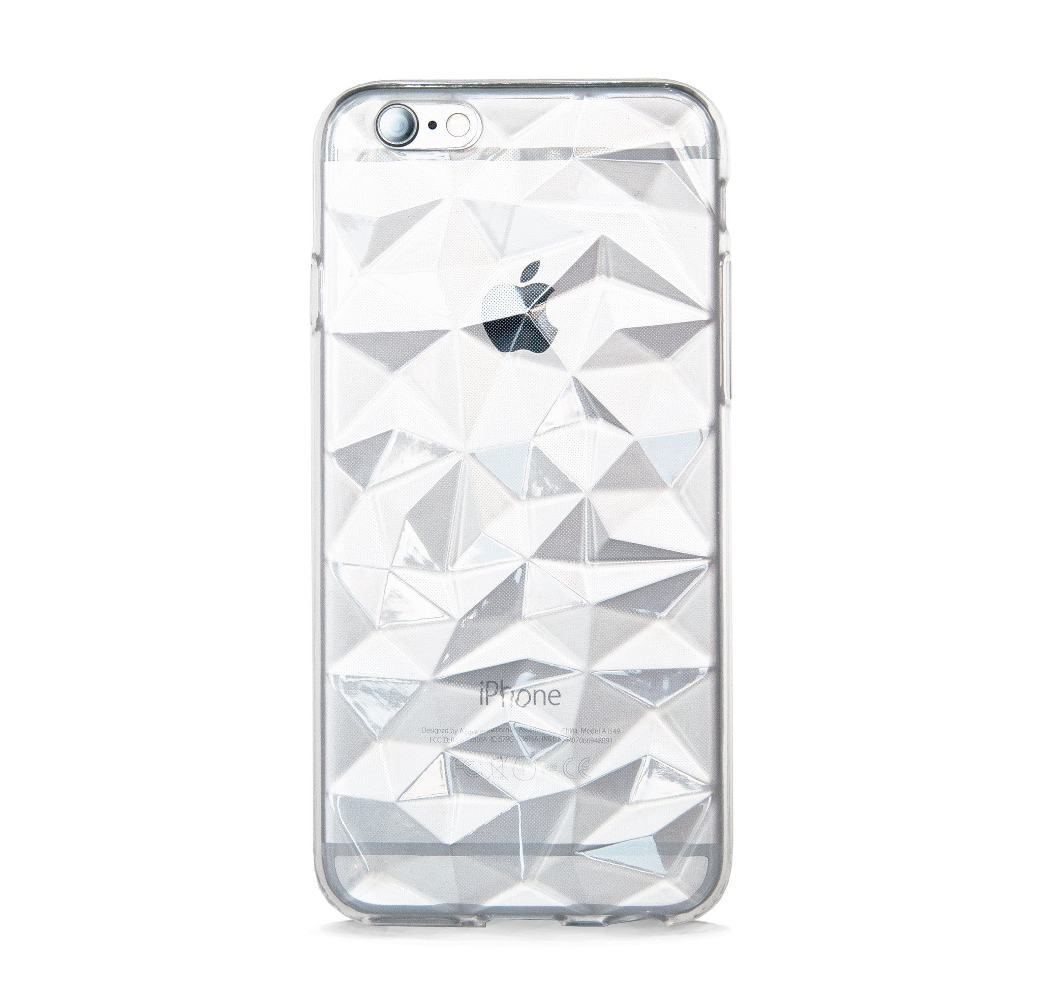 *IPHONE 6/6s MULTI FACETED CLEAR RUBBER CASE