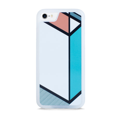 DIAGONAL LINE COLOR BLOCK ORANGE MINT FOR IPHONE 7