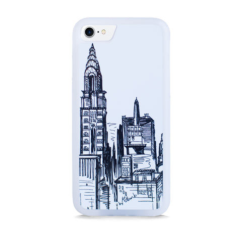 NEW YORK SKYLINE VINTAGE ILLUST FOR IPHONE 7