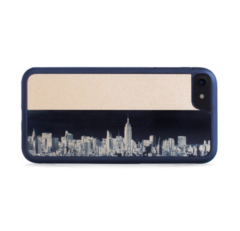NEW YORK SKYLINE GOLD FOR IPHONE 7