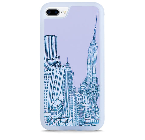 NEW YORK ILLUST PINK FOR IPHONE 7 PLUS