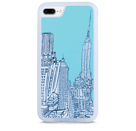 NEW YORK ILLUST MINT FOR IPHONE 7 PLUS