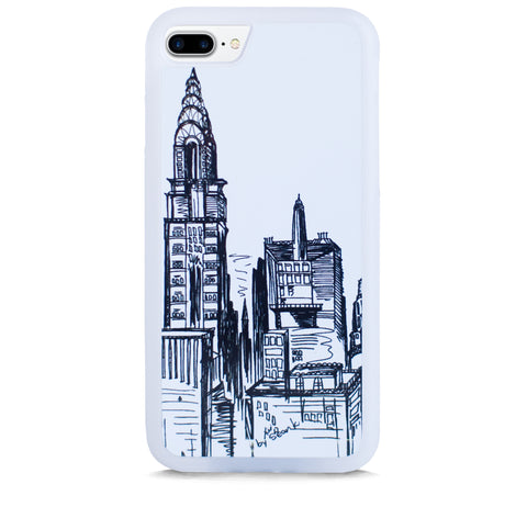 NEW YORK SKYLINE VINTAGE ILLUST FOR IPHONE 7 PLUS