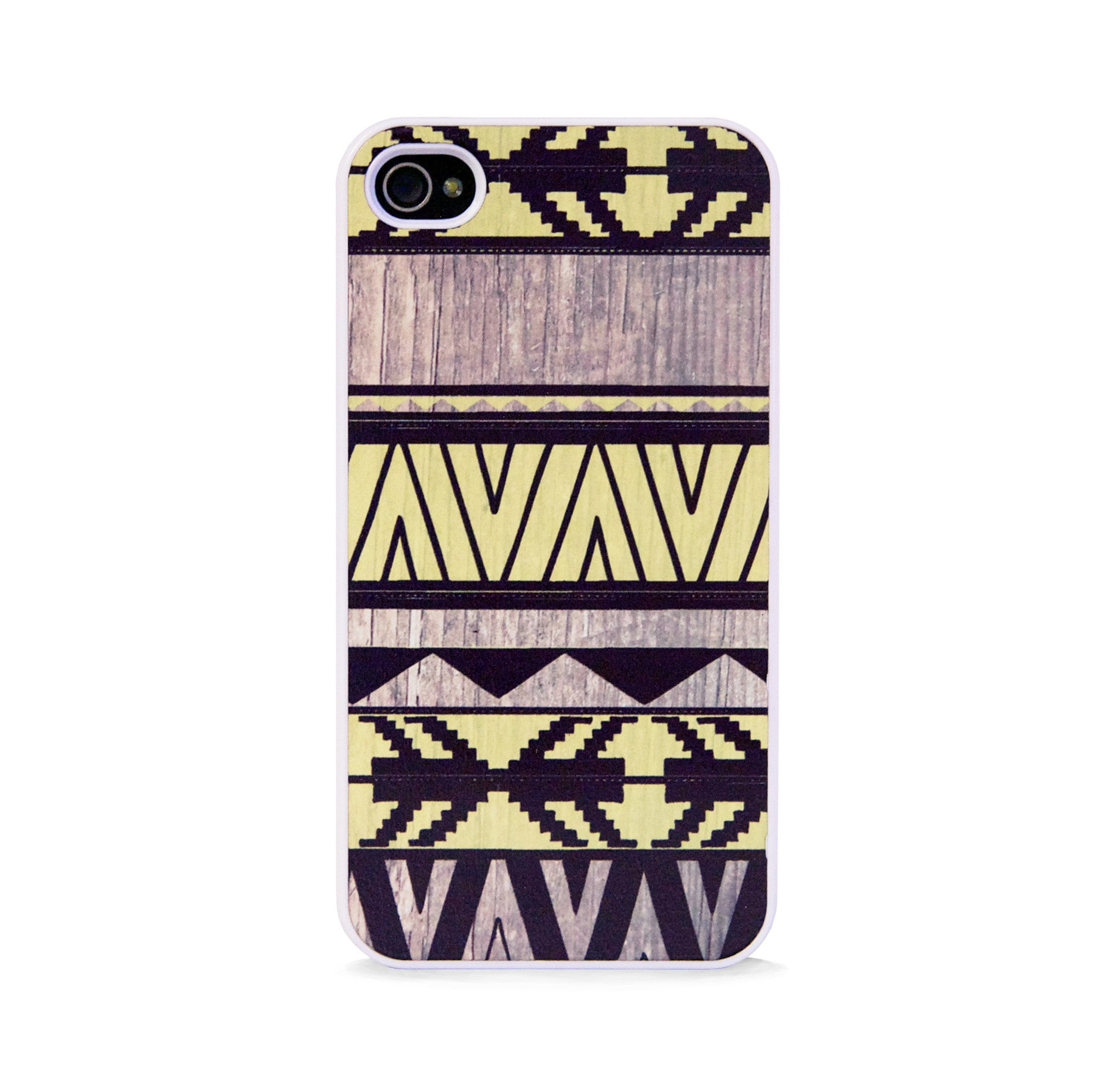 AZTEC GEO LEMON WOOD FOR IPHONE 4/4S