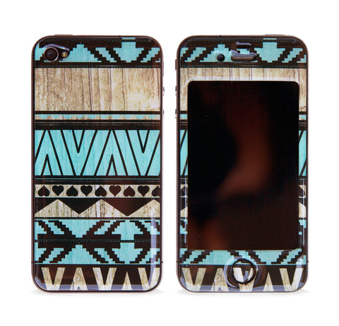 AZTEC MINT 3D GEL SKIN FOR IPHONE 4/4S