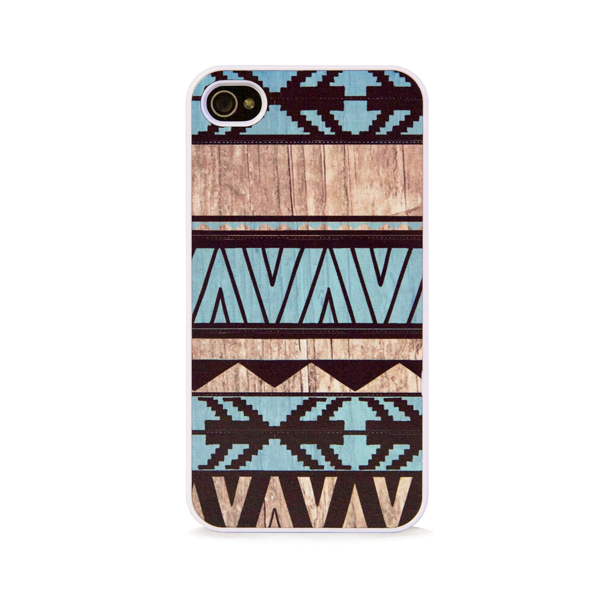 AZTEC GEO MINT WOOD FOR IPHONE 4/4S