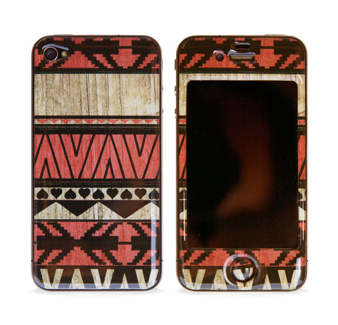 AZTEC RED 3D GEL SKIN FOR IPHONE 4/4S