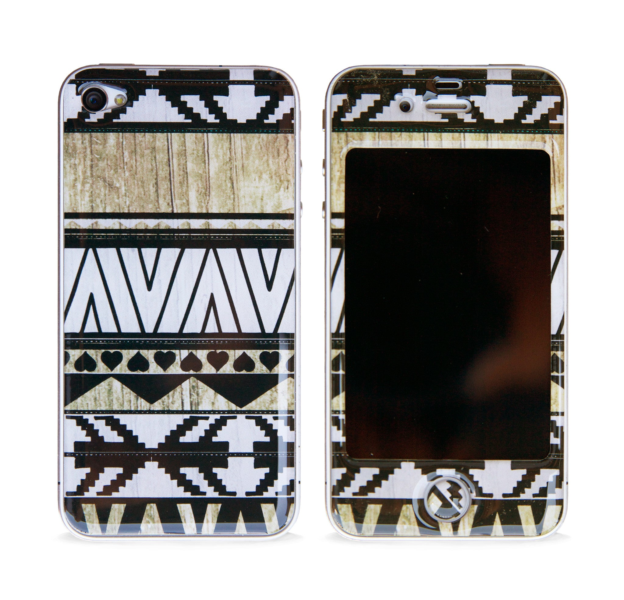 AZTEC WHITE 3D GEL SKIN FOR IPHONE 4/4S